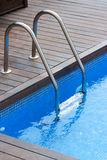 Swimming pool and handrail Royalty Free Stock Photos