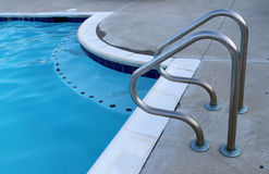 Swimming pool handrails Royalty Free Stock Photography