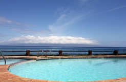 Swimming pool on hawaii Royalty Free Stock Photos