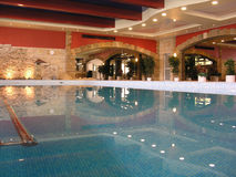 Swimming pool in health club Royalty Free Stock Photo