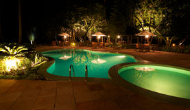 Swimming pool in a holiday resort Stock Photography