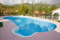 Swimming pool. At holiday villa in Cyprus Stock Images