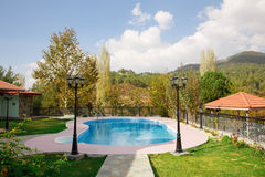 Swimming pool. At holiday villa in Cyprus Royalty Free Stock Photo