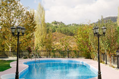 Swimming pool. At holiday villa in Cyprus Royalty Free Stock Photography