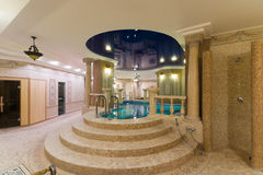 Swimming pool in hotel. Swimming pool in modern hotel Stock Images