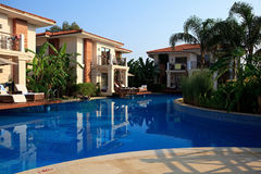 Swimming pool at the hotel. Royalty Free Stock Photography