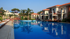Swimming pool at the hotel. Stock Image