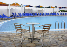 Swimming pool in hotel Royalty Free Stock Photography