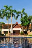 Swimming pool in hotel Stock Photo