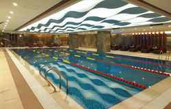 Swimming pool in hotel. Stock Image