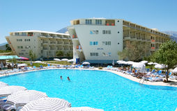 Swimming pool of hotel. Royalty Free Stock Photos