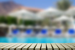 Swimming pool in hotel Stock Photo