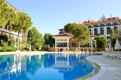 Swimming pool at hotel. Antalya, Turkey Stock Photo