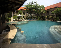 Swimming pool of hotel Adhi Jaya Royalty Free Stock Images