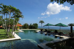 Swimming pool in hotel of bali. Indonesia Royalty Free Stock Photos