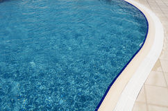Swimming pool at hotel close up Stock Images