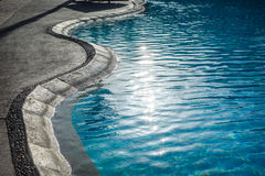 Swimming pool with at hotel close up Stock Photography