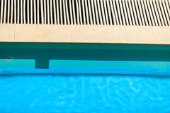 Swimming pool at hotel close up Stock Image