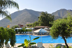 Swimming pool at hotel, Crete Stock Images