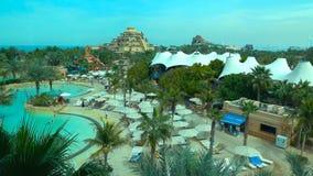 Swimming pool in hotel- dubaia stock image