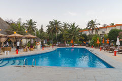 Swimming pool in hotel Royalty Free Stock Photo
