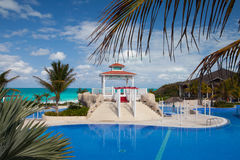 Swimming pool in Hotel Gaviota Cayo Santa Maria.Cuba. Stock Photos