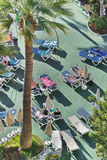 Swimming pool in a hotel in Los Cristianos city. Tenerife. Canary Islands, Spain. Stock Photography