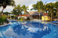 Swimming pool and hotel resort Royalty Free Stock Photos