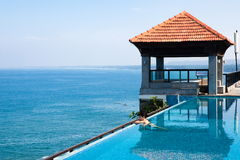 Swimming pool in a hotel resort india Royalty Free Stock Image