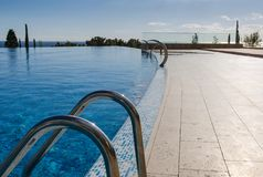 Swimming pool in hotel resort Royalty Free Stock Image