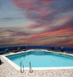 Swimming pool on the hotel roof Royalty Free Stock Photography