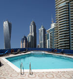 The swimming pool on the hotel roof Stock Image