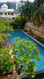 Swimming Pool at a Hotel in Thailand stock images