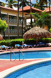 Swimming pool hotel at tropical resort Stock Images