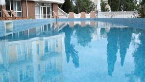 Swimming pool at hotel stock video footage