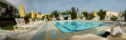 Swimming pool of the Iberostar Creta Marine. A 4 stars hotel in Crete (Panormo Royalty Free Stock Image