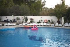 Swimming pool in Ibiza royalty free stock image