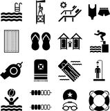 Swimming pool icons Stock Photos