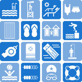 Swimming pool icons Royalty Free Stock Photography