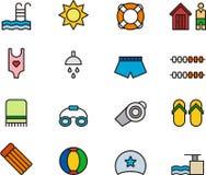 Swimming Pool Icons or Symbols Royalty Free Stock Photos