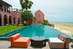 Swimming Pool In Morocco Style Royalty Free Stock Images
