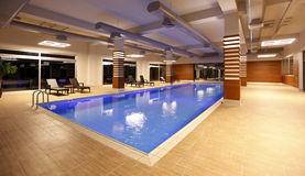 Swimming pool indoor Stock Images