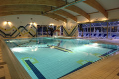 Swimming pool indoor, empty. Royalty Free Stock Image