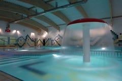 Swimming pool indoor, empty. Stock Photos