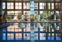 Swimming pool indoor Stock Photos