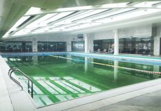 Swimming pool indoor 2 Stock Photos