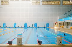 Swimming pool indoor landscape Stock Image