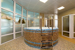 Swimming pool indoor. Sauna swimming pool indoor room steam bath Stock Image