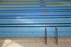 Swimming pool indoors Stock Photography