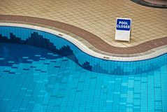Swimming pool inside the hotel Stock Images